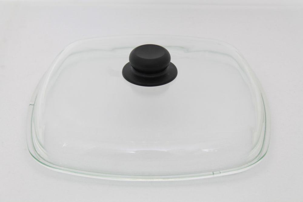 glasdeckel eckig 28 x 28 cm martin weber bbq grillpfanne. Black Bedroom Furniture Sets. Home Design Ideas